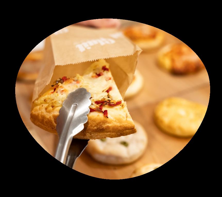 Trancio di pizza senza glutine e senza lattosio
