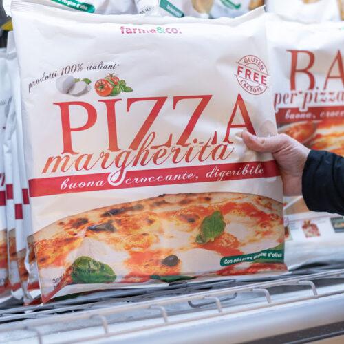 Pizza surgelata senza glutine e senza lattosio