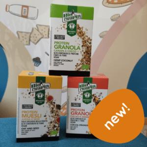 protein granola senza glutine